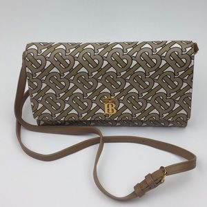 BURBERRY TB monogram crossbody clutch
